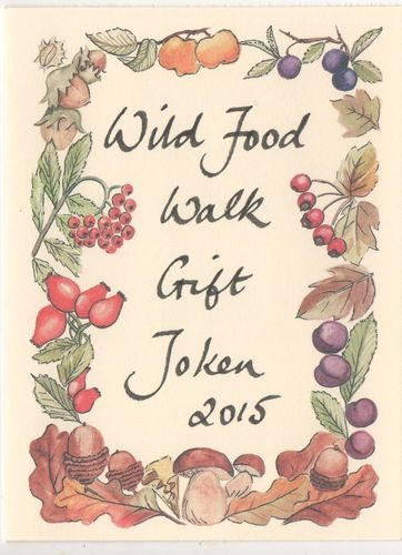 Gift Voucher for a Wild Food Walk with Ffyona Campbell, adult rate